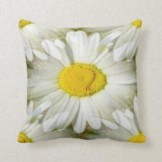 White Daisy Mirror Image American MoJo Throw Pillo Cushion