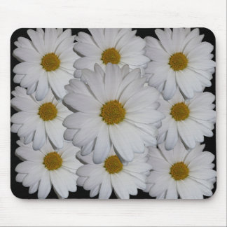 White Daisy Mouse Pads