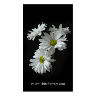 White Daisy Mums Floral Business Card