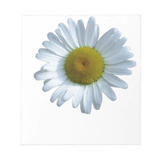 White Daisy Notepad