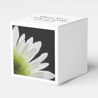 White Daisy on Black Wedding Party Favour Boxes