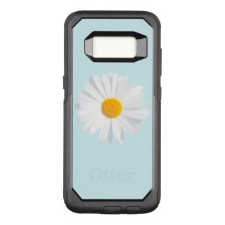 white daisy OtterBox commuter samsung galaxy s8 case