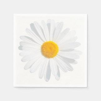 white daisy paper napkin