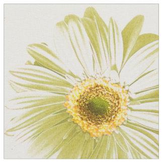 White Daisy Pattern Fabric
