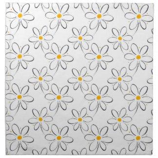 White Daisy Pattern Napkin