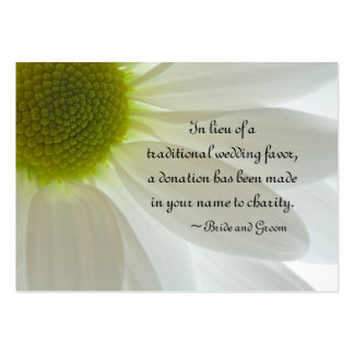 White Daisy Petals Wedding Charity Favor Card Pack Of Chubby Business Cards