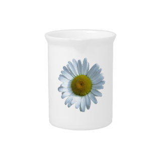 White Daisy Pitcher