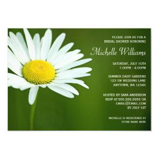 White Daisy Summer Bridal Shower Invitations