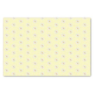 white daisy tissue paper