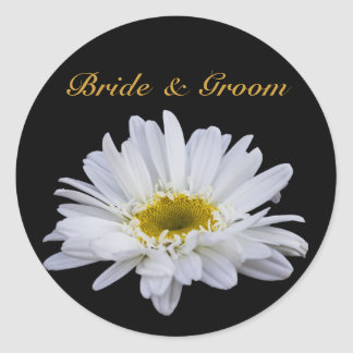 White Daisy Wedding Stickers
