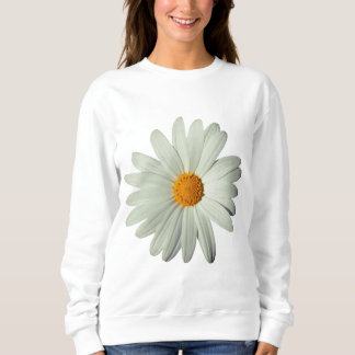 White Daisy White Sweatshirt