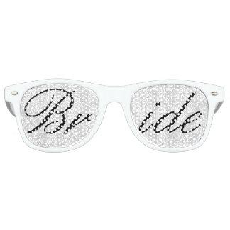 White Damask Bride Fun Bachelorette Party Glasses