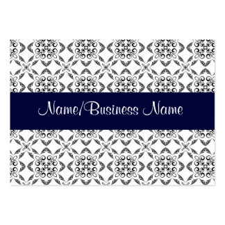 White Damask Business Card Business Card