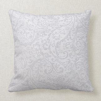 White Damask Cushion