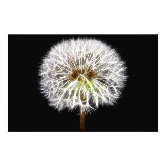 White Dandelion Flower Plant Stationery Paper