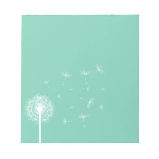White Dandelion Silhouette Notepad