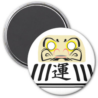 WHITE Daruma is for love and harmony GOALS Magnet