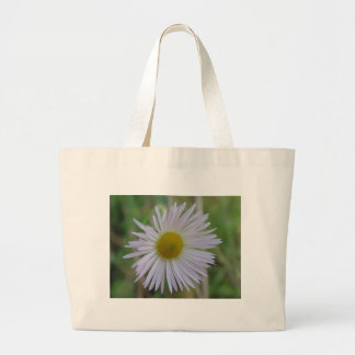 White, delicate game flower canvas bag