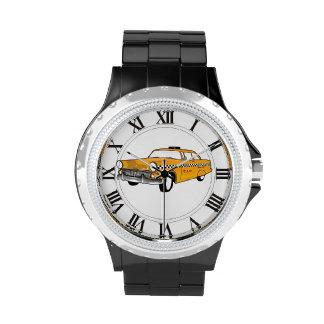 white dial watch newyork cab