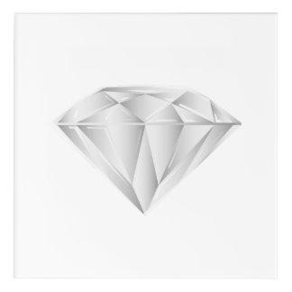 White Diamond for my sweetheart Acrylic Wall Art