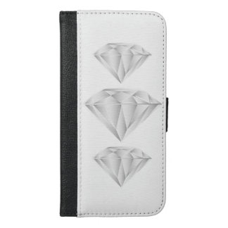 White Diamond for my sweetheart iPhone 6/6s Plus Wallet Case