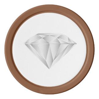 White Diamond for my sweetheart Poker Chips