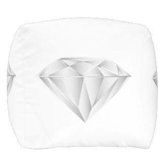 White Diamond for my sweetheart Pouf
