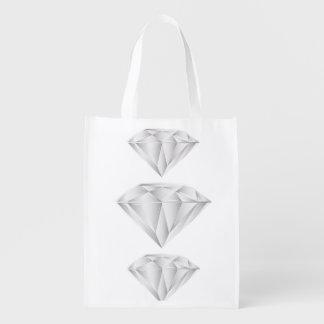 White Diamond for my sweetheart Reusable Grocery Bag