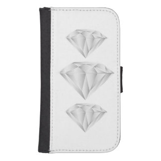 White Diamond for my sweetheart Samsung S4 Wallet Case