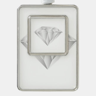 White Diamond for my sweetheart Silver Plated Framed Ornament
