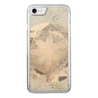 White Diamond on Light Pastel Blue Sparkle Carved iPhone 7 Case