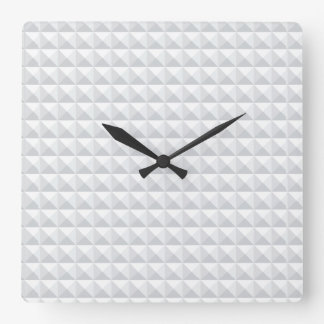 White Diamond Pattern. Square Wall Clock