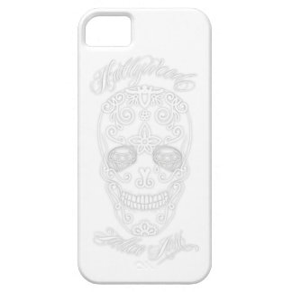 White Diamond Sugar Skull Case For The iPhone 5