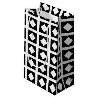 White Diamonds and Black Squares Small Gift Bag