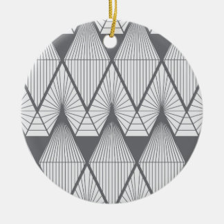 White diamonds ceramic ornament
