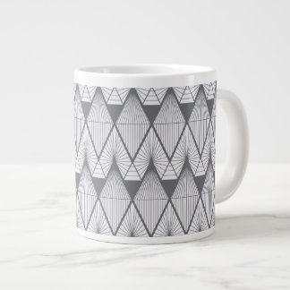 White diamonds large coffee mug