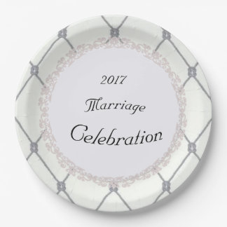 White-Diamonds-Silver-Rope-Wedding(c)TEMPLATE 9 Inch Paper Plate