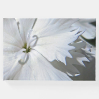 White Dianthus Guest Book