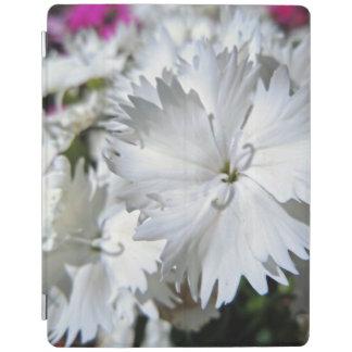 White Dianthus iPad Cover