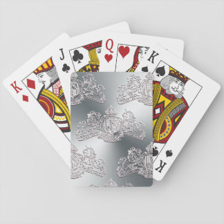 White Dieu et Mon Droit British Coat of Arms Playing Cards