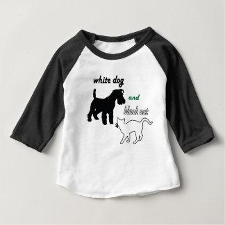 White dog and black cat infant T-Shirt
