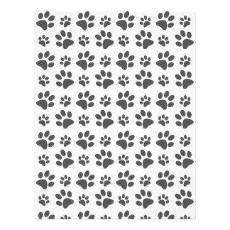 White dog paw print pattern flyer design