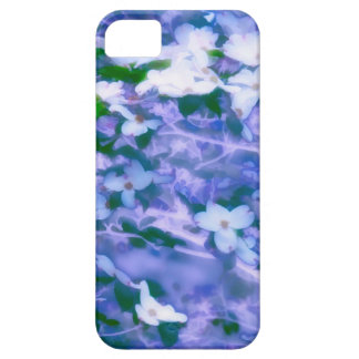 White Dogwood Blossom in Blue Barely There iPhone 5 Case