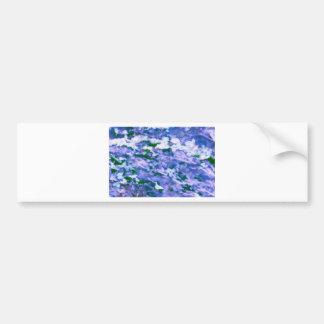 White Dogwood Blossom in Blue Bumper Sticker