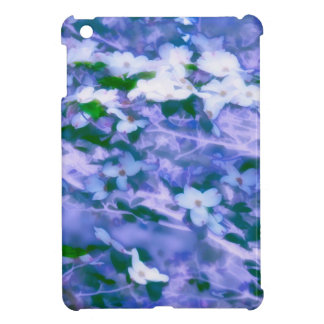 White Dogwood Blossom in Blue Cover For The iPad Mini