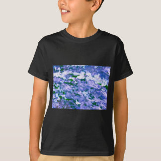 White Dogwood Blossom in Blue T-Shirt