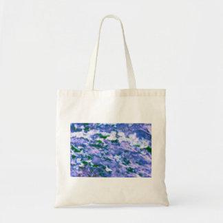 White Dogwood Blossom in Blue Tote Bag