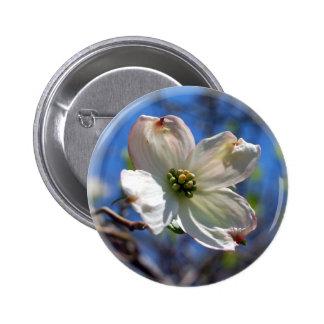 White Dogwood Flower button