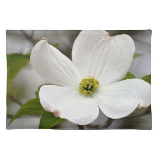 White Dogwood Flower Placemat