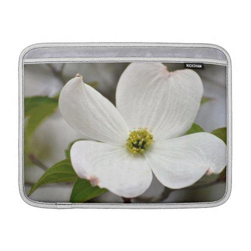 White Dogwood Flower Sleeves For MacBook Air